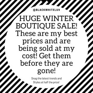 Other - Winter Boutique Clear Out!